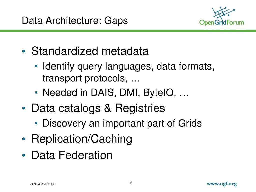 Data Architecture: Gaps