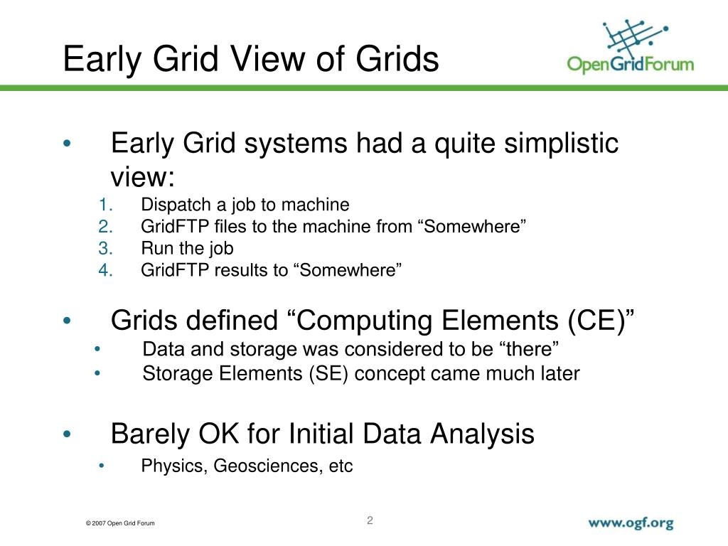 Early Grid View of Grids