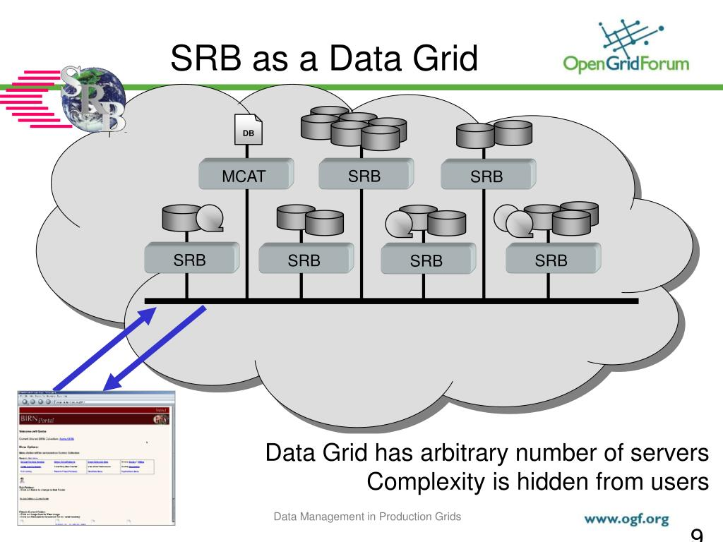 SRB as a Data Grid