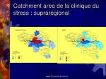 catchment area de la clinique du stress suprar gional