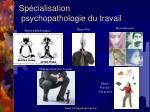 sp cialisation psychopathologie du travail