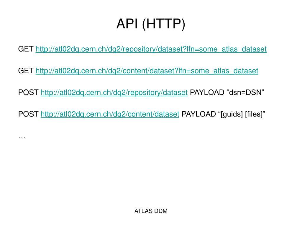 API (HTTP)