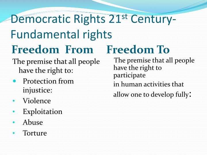 Democratic Rights 21