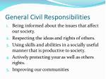 general civil responsibilities