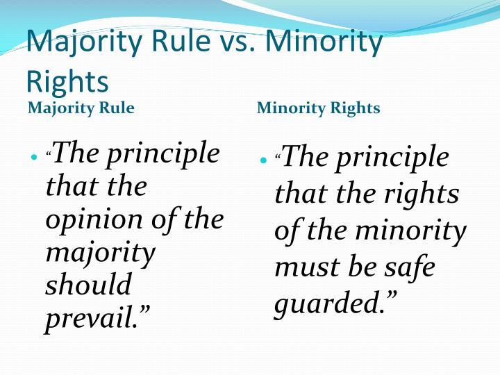 Majority Rule vs. Minority Rights