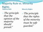 majority rule vs minority rights