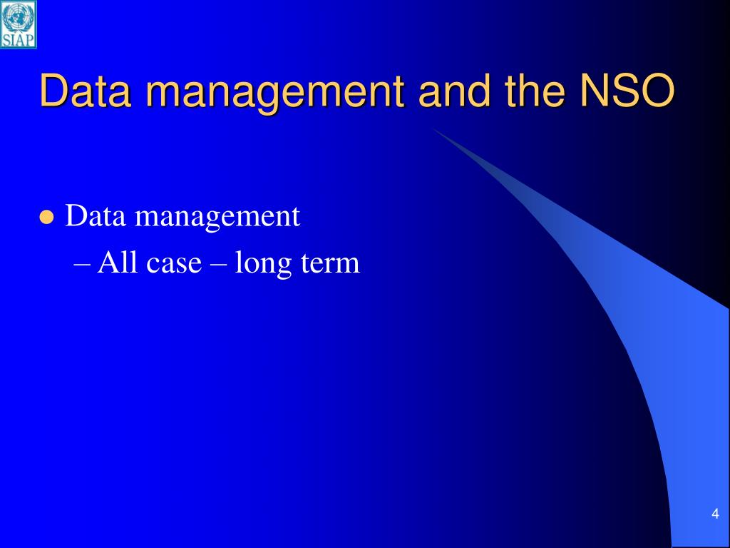 Data management and the NSO