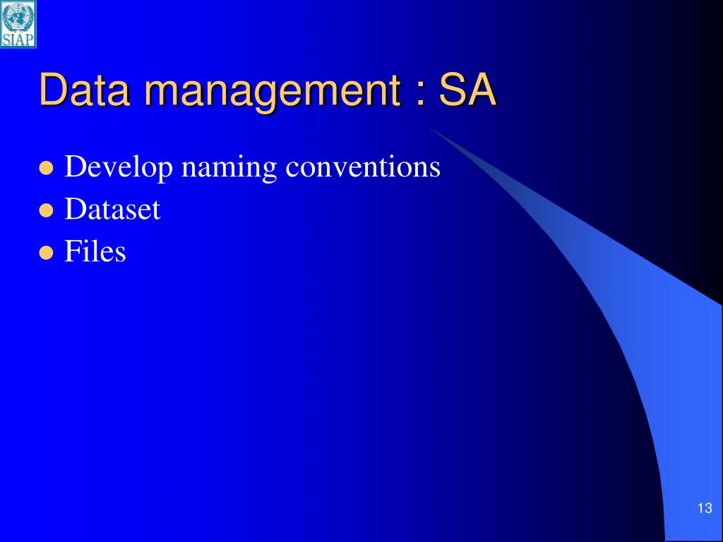 Data management : SA