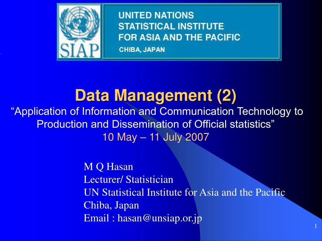 Data Management (2)