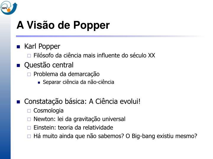 A Visão de Popper