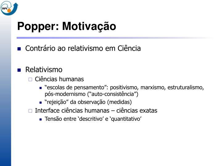 Popper: Motivação