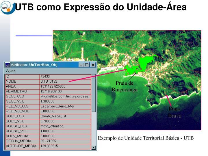 UTB como Expressão do Unidade-Área