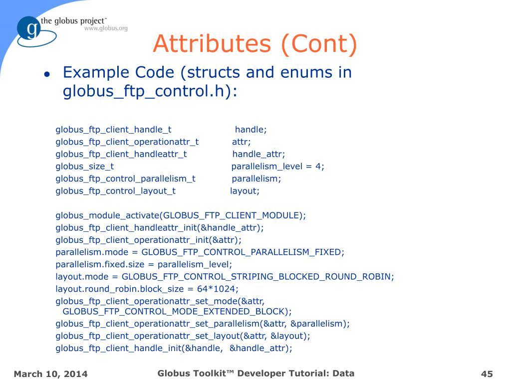 Attributes (Cont)