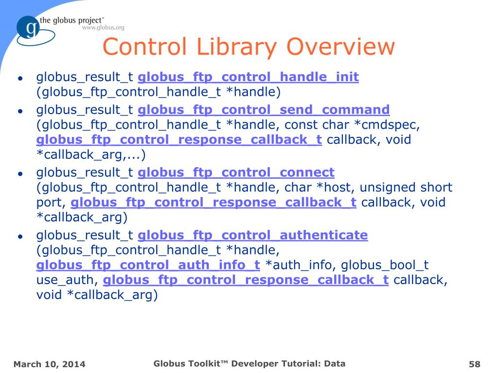 Control Library Overview