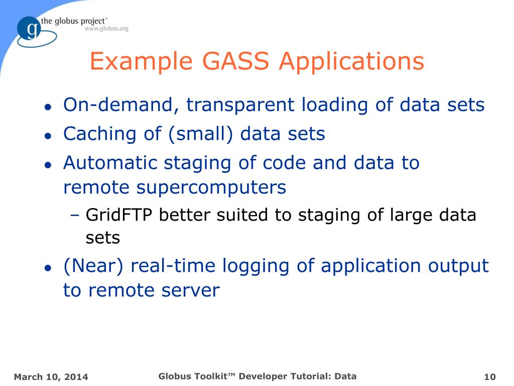 Example GASS Applications