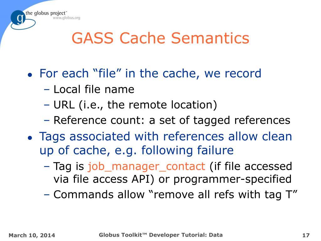 GASS Cache Semantics