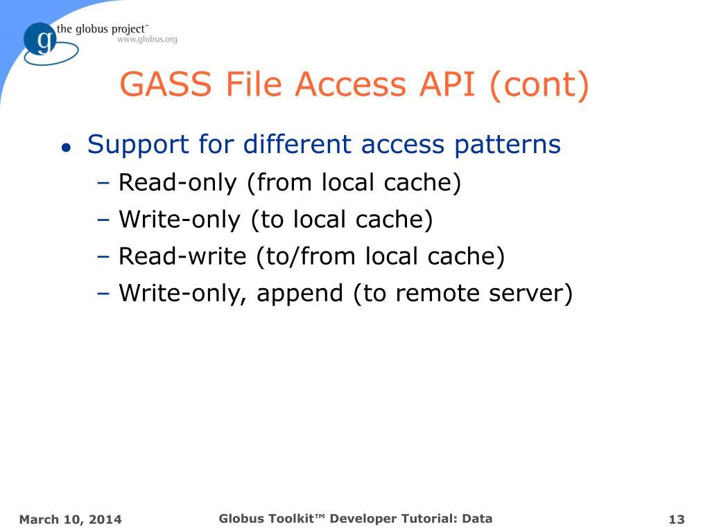 GASS File Access API (cont)