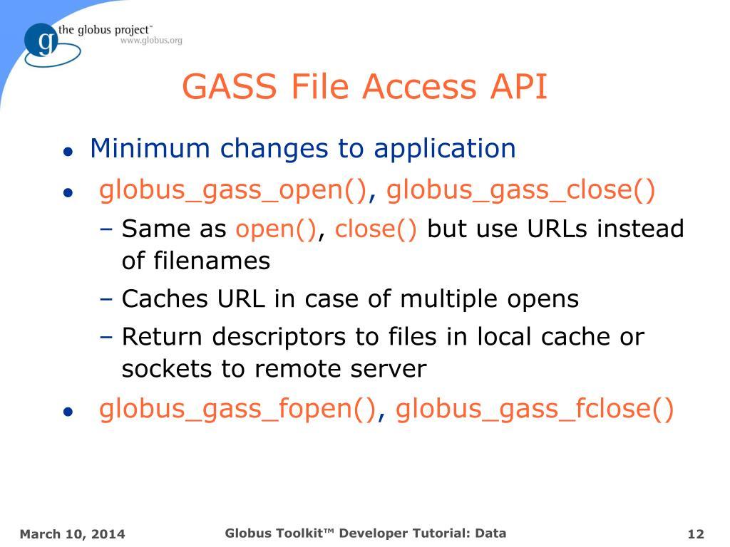 GASS File Access API