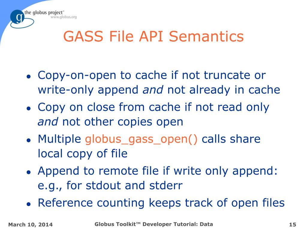 GASS File API Semantics