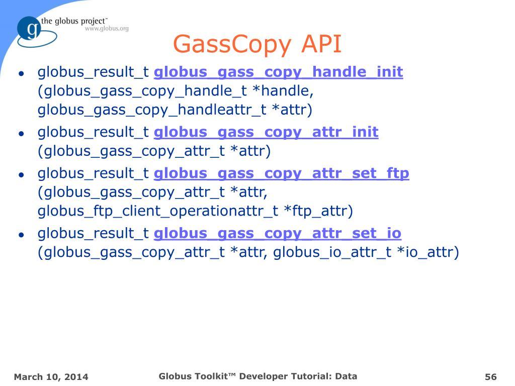 GassCopy API