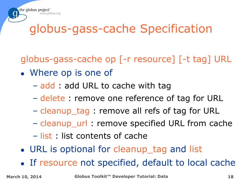 globus-gass-cache Specification