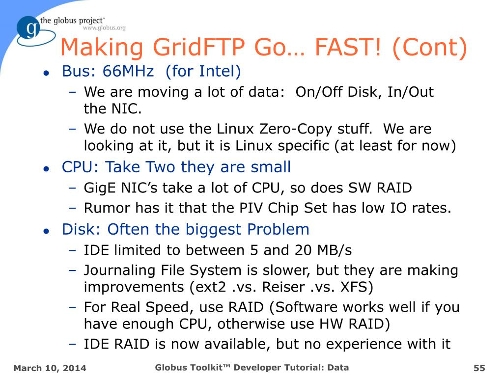 Making GridFTP Go… FAST! (Cont)