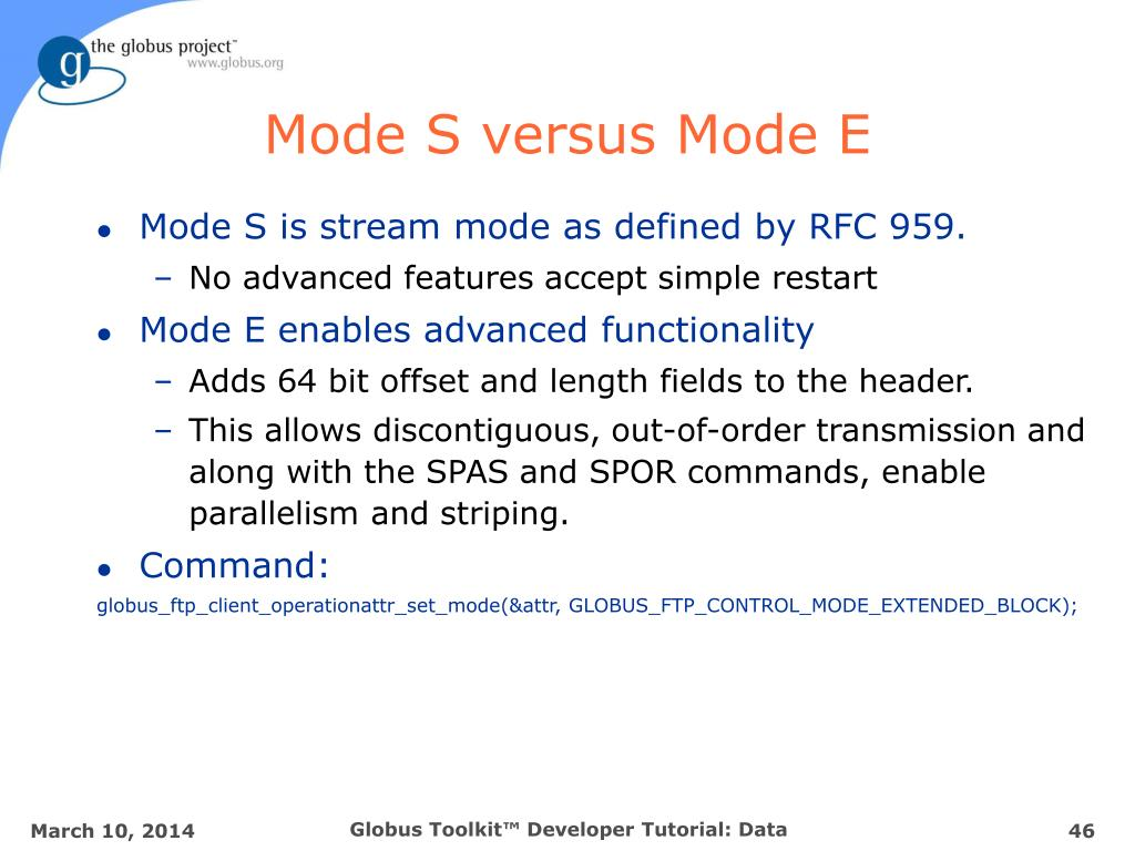 Mode S versus Mode E