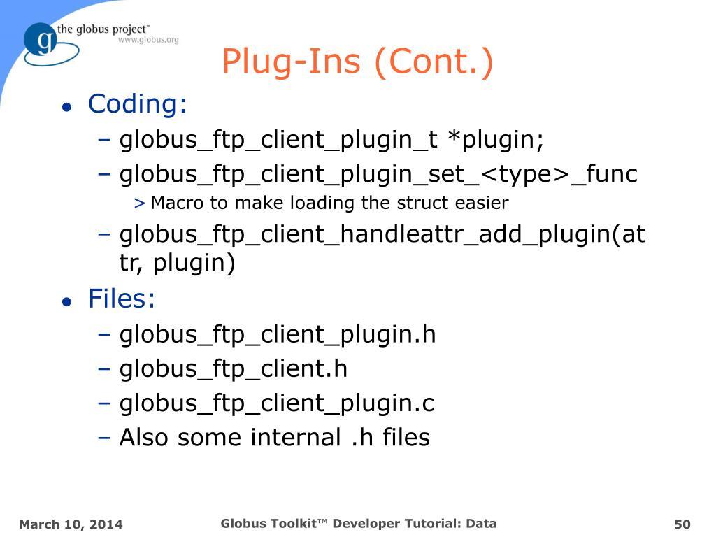 Plug-Ins (Cont.)