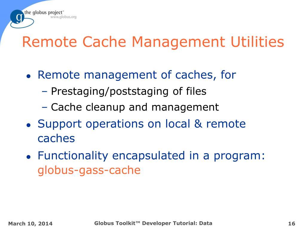 Remote Cache Management Utilities