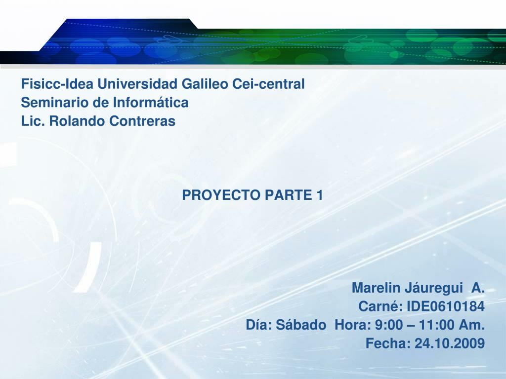 Fisicc-Idea Universidad Galileo Cei-central