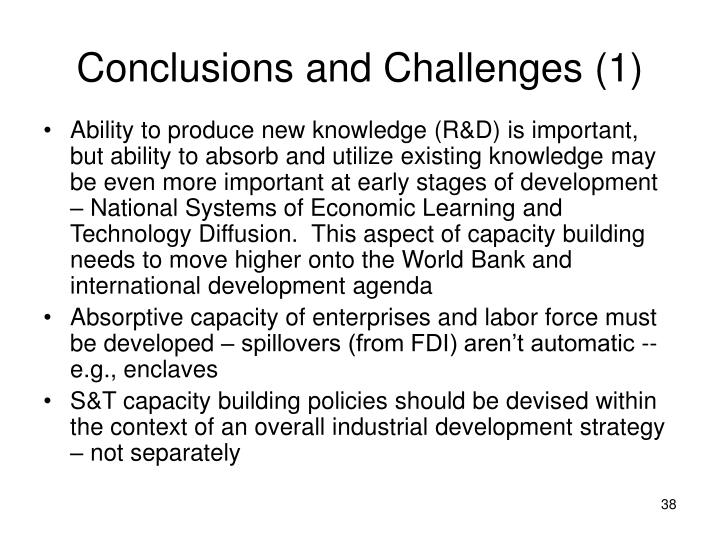 Conclusions and Challenges (1)