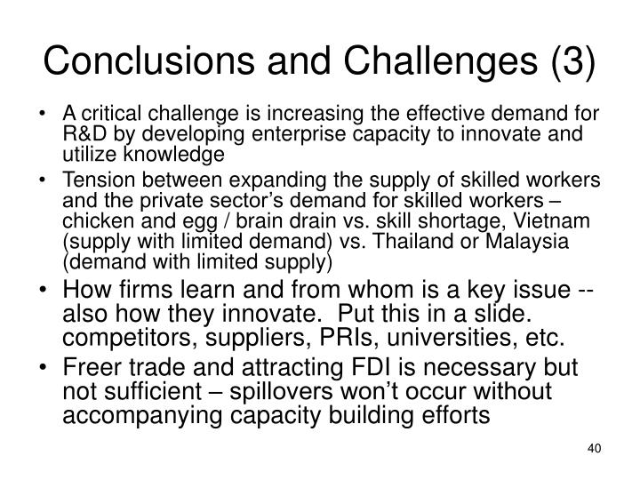 Conclusions and Challenges (3)