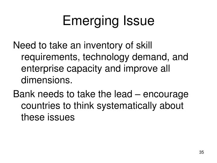 Emerging Issue