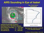 airs sounding in eye of isabel