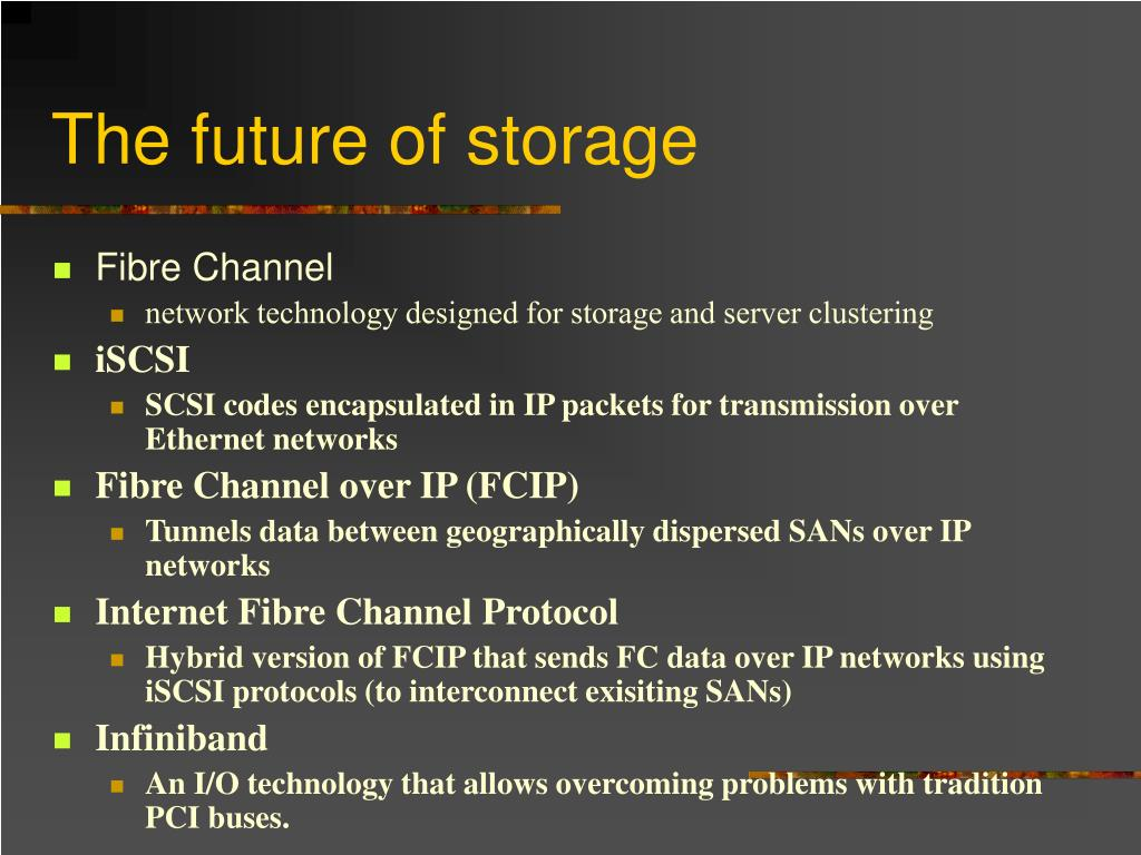 The future of storage