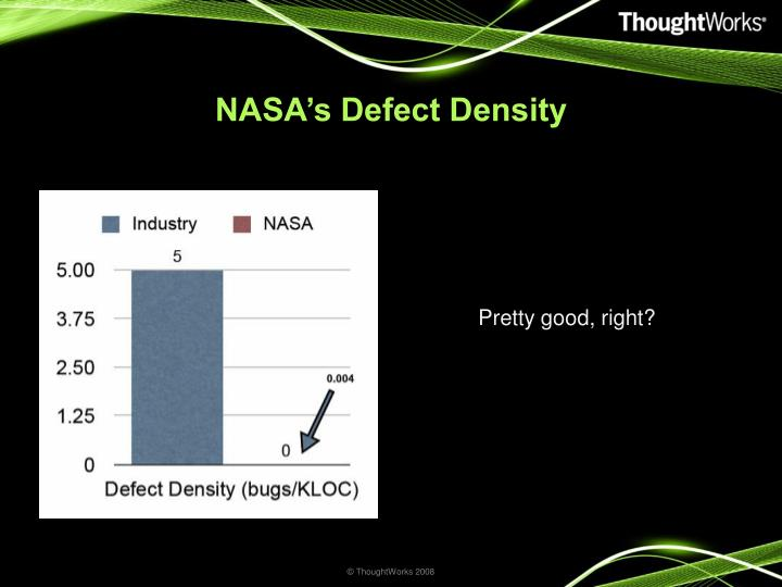 NASA's Defect Density