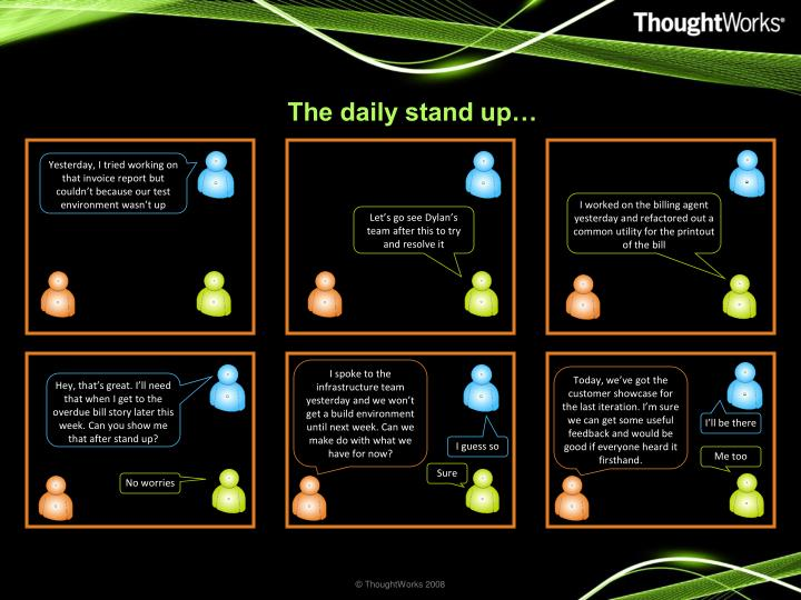 The daily stand up…