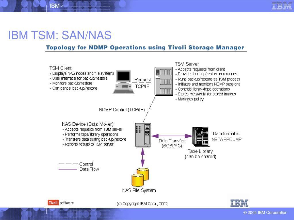 IBM TSM: SAN/NAS