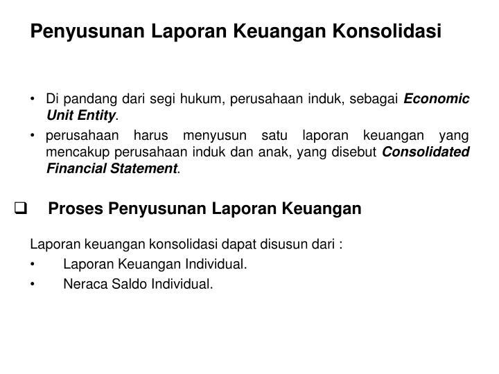Penyusunan Laporan Keuangan Konsolidasi
