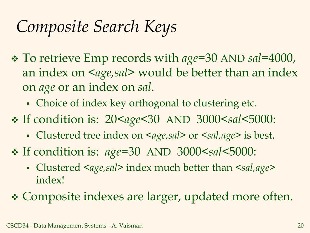 Composite Search Keys