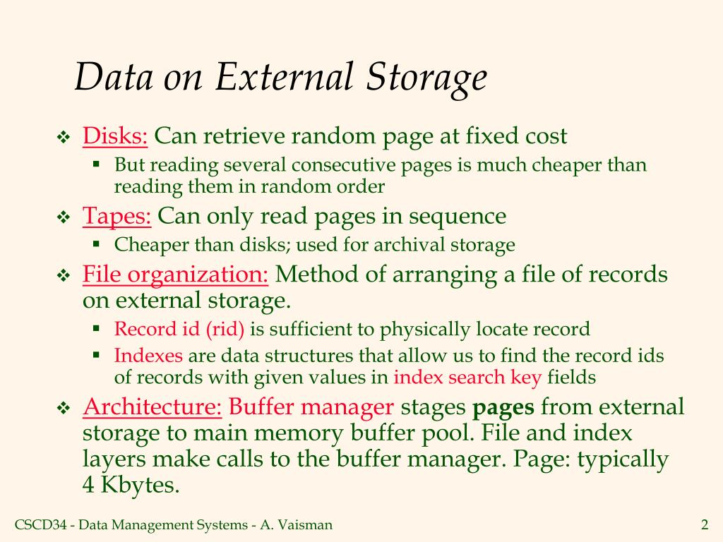 Data on External Storage