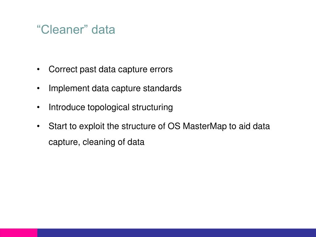 """Cleaner"" data"
