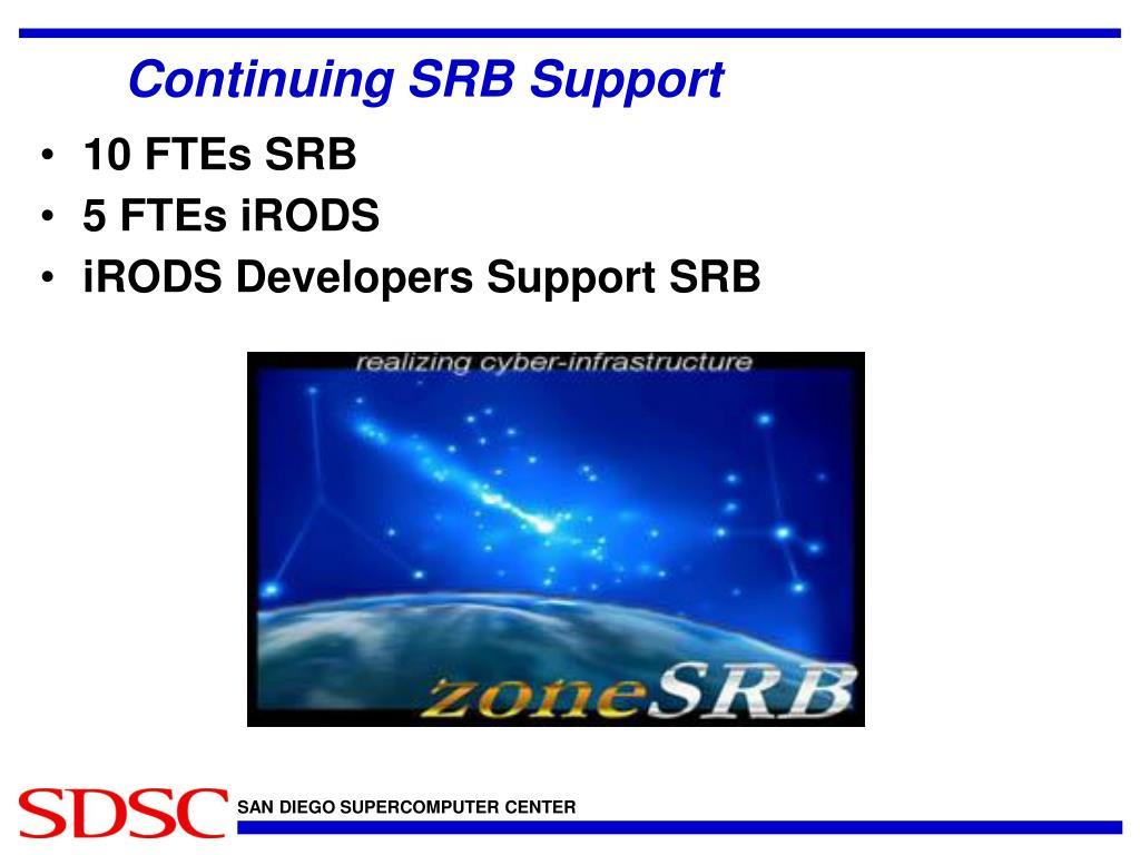 Continuing SRB Support