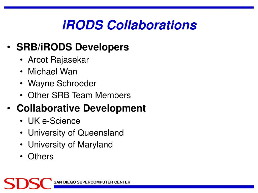 iRODS Collaborations