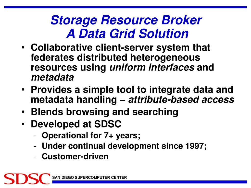 Storage Resource Broker