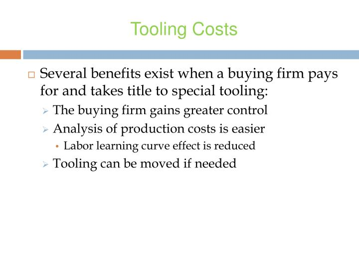 Tooling Costs
