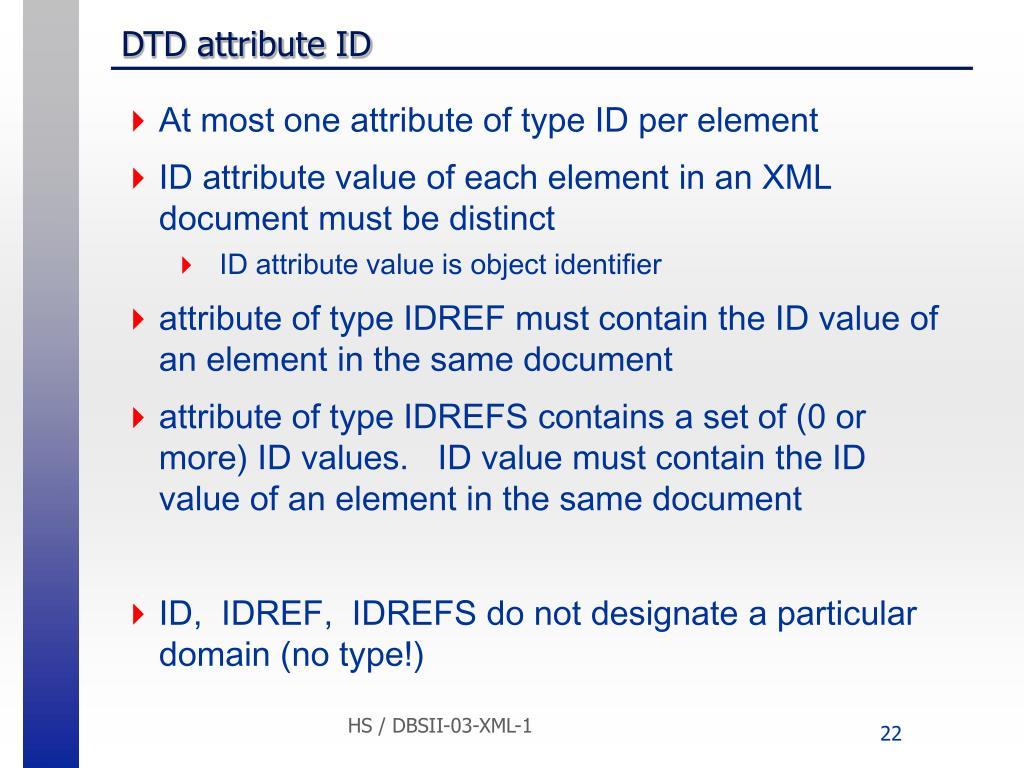 DTD attribute ID