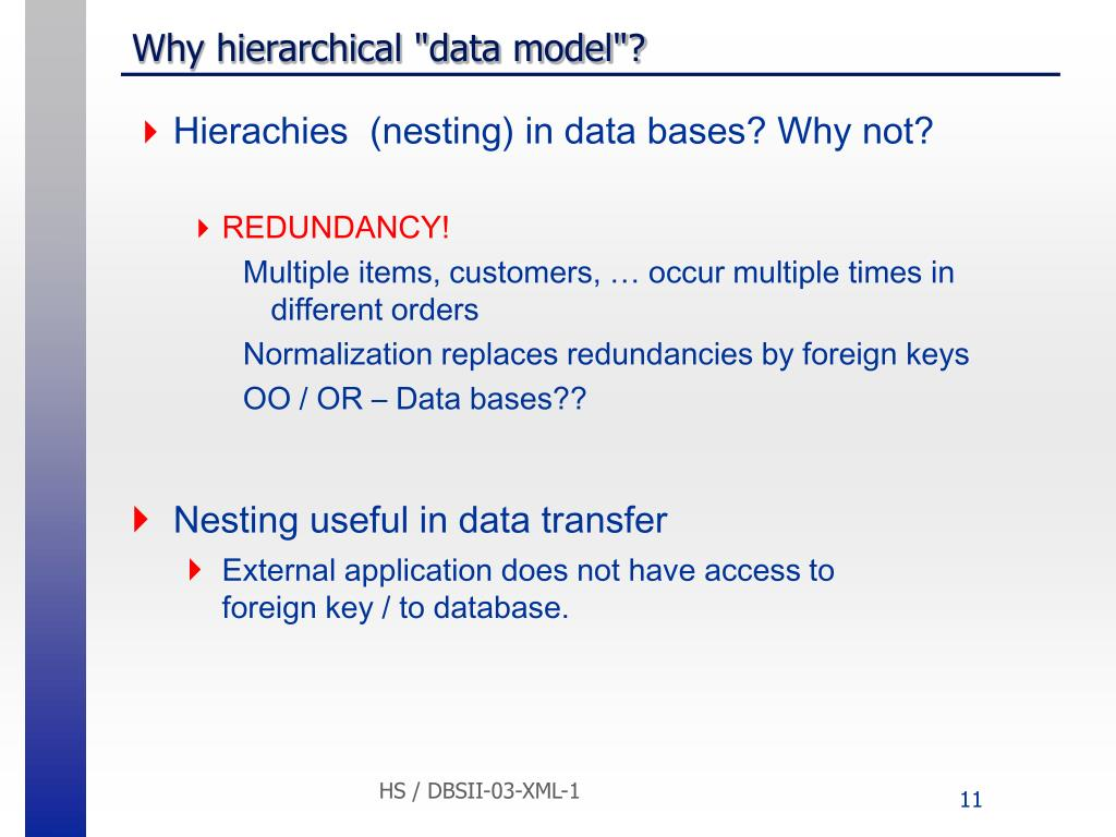 "Why hierarchical ""data model""?"