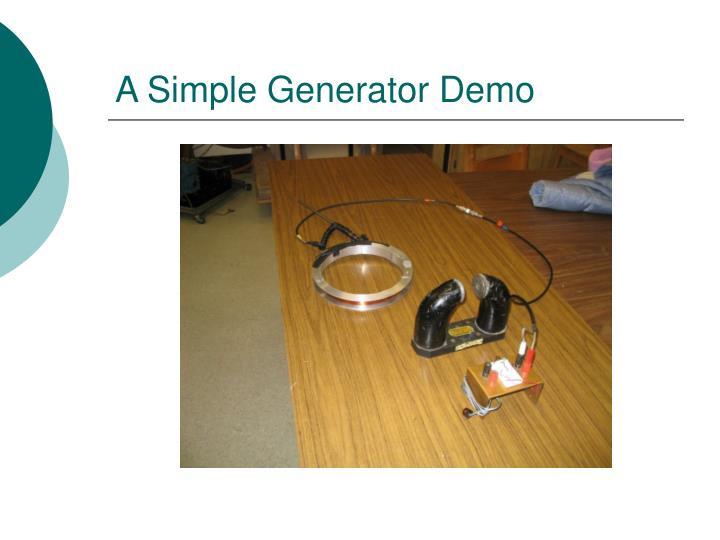 A Simple Generator Demo