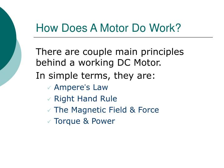 How Does A Motor Do Work?